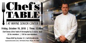 Chef's Table at Wayne Senior Center