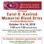 11th Annual Carol H. Axelrod Memorial Blood Drive at Lankenau Medical Center
