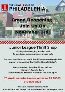 Junior League of Philadelphia Thrift Shop Grand Re...