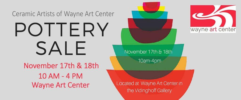 Wayne Art Center Pottery Sale