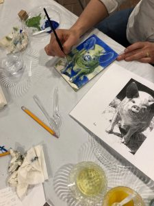 Creative Escape: Experimenting with Egg Tempera