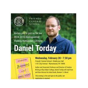 Author and Bryn Mawr Professor Daniel Torday