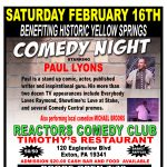 Comedy Night Benefit for Historic Yellow Springs