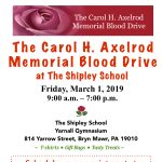 The Carol H. Axelrod Memorial Blood Drive at The Shipley School