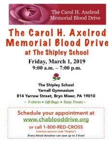 The Carol H. Axelrod Memorial Blood Drive at The S...