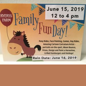 Ryerss Farm for Aged Equines - FAMILY FUN DAY