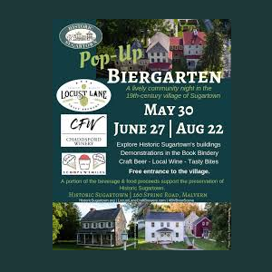 Historic Sugartown's Biergarten
