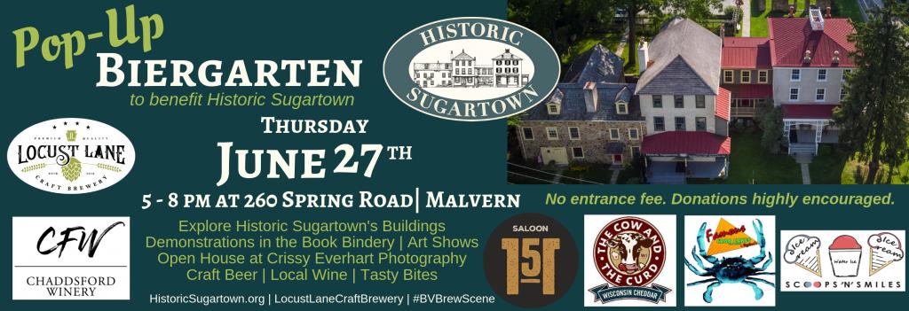 Historic Sugartown's Pop- Up Biergarten