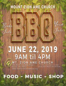 Mt. Zion AME Church BBQ and Yard Sale