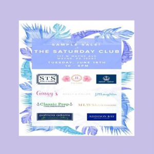 Saturday Club Sample Sale