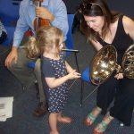 Delaware County Symphony Visits The Marple Library With An Instrument Petting Zoo For Children !!