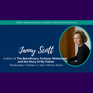 Janny Scott, author of The Beneficiary: Fortune, M...