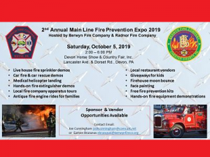 Main Line Fire Prevention Expo 2019