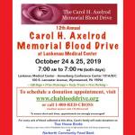 12th Annual Carol H. Axelrod Memorial Blood Drive at Lankenau Medical Center
