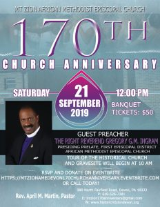170th Church Anniversary, Mt. Zion AME Church, Dev...