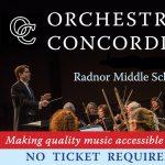 Orchestra Concordia Free Community Concert Featuring Philadelphia Orchestra Soloist
