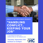 """Power Up for Employment Workshop: """"Handling Conflict, Keeping your Job"""""""