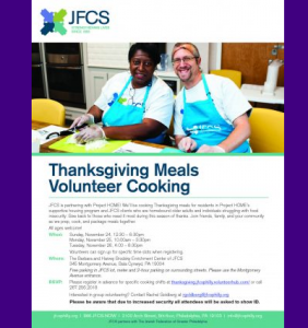 JFCS - Thanksgiving Meals Volunteer Cooking