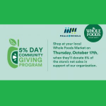 Whole Foods Community GIving Day for Main Line Meals on Wheels
