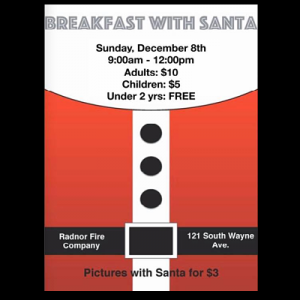 Breakfast with Santa at the Radnor Fire Station