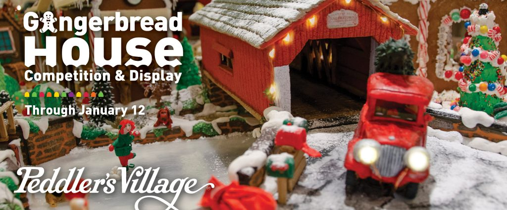 Peddlers Village Gingerbread House Competition and...