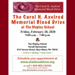 The Carol H Axelrod Memorial Blood Drive at The Shipley School