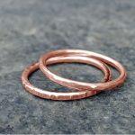 Teen Workshop: Hammered Copper Stack Ring