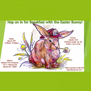 CANCELLED - Easter Bunny Breakfast
