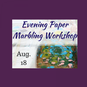 Evening Paper Marbling Workshop in Historic Sugartown's Bindery