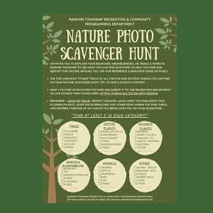 Nature Photo Scavenger Hunt