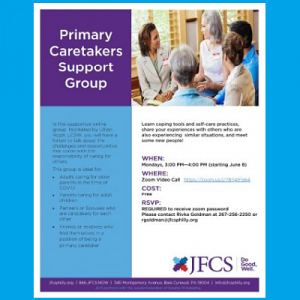 JFCS - Primary Caretakers Support Group
