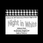 Night In White Celebration of Women's Right to Vote