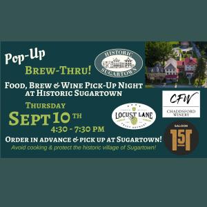 Pop-Up Brew-Thru at Historic Sugartown