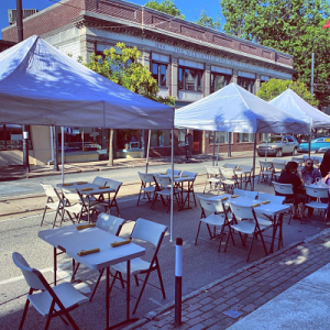 Outdoor Dining & Shopping in Media