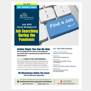 JEVS Human Services Free Career Webinars How To Stay Competitive During The Pandemic