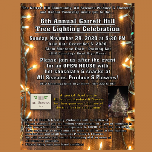 6th Annual Garrett Hill Tree Lighting Celebration
