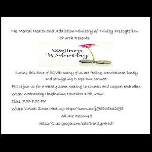"Trinity Presbyterian Church ""Wellness Wednesday"""