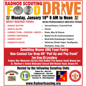 Radnor Scouting Food Drive