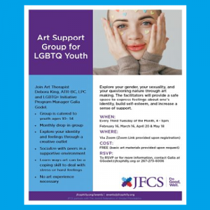 JFCS - Art Support Group for LGBTQ Youth