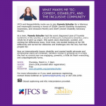 JFCS - What Makes Me Tic: Comedy, Disability, and the Inclusive Community