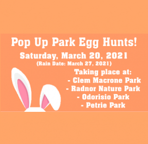 Pop-Up Park Egg Hunts