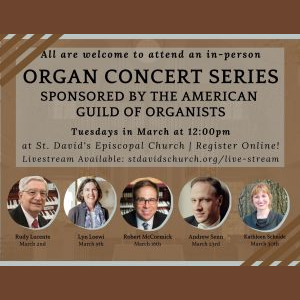 In-Person Tuesday Organ Concert Series