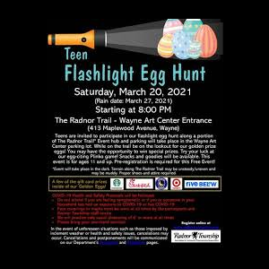Teen Flashlight Egg Hunt