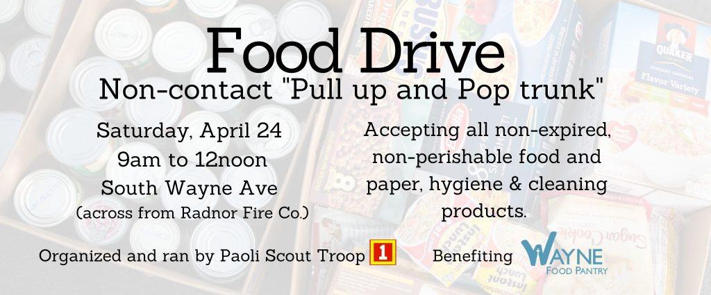 Paoli Troop 1 Food Drive
