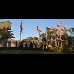 Delaware County Veterans Memorial Association's Casket Flag-Raising Ceremony