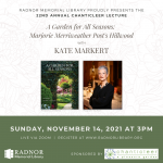 22nd Annual Chanticleer Lecture with Kate Markert
