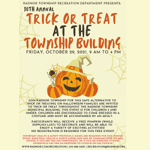 Trick or Treat at Radnor Township Building